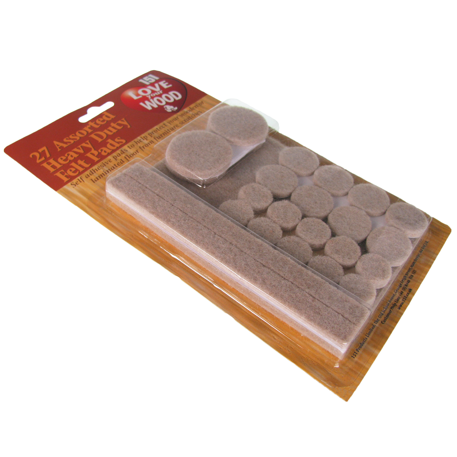 Furniture Felt Pads Floor Protector Wood Adhesive Laminate Heavy Duty ...