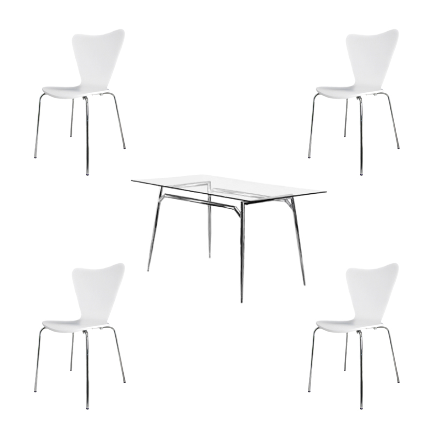 Beautiful Chrome and Glass Dining Table White 900 x 900 · 68 kB · jpeg
