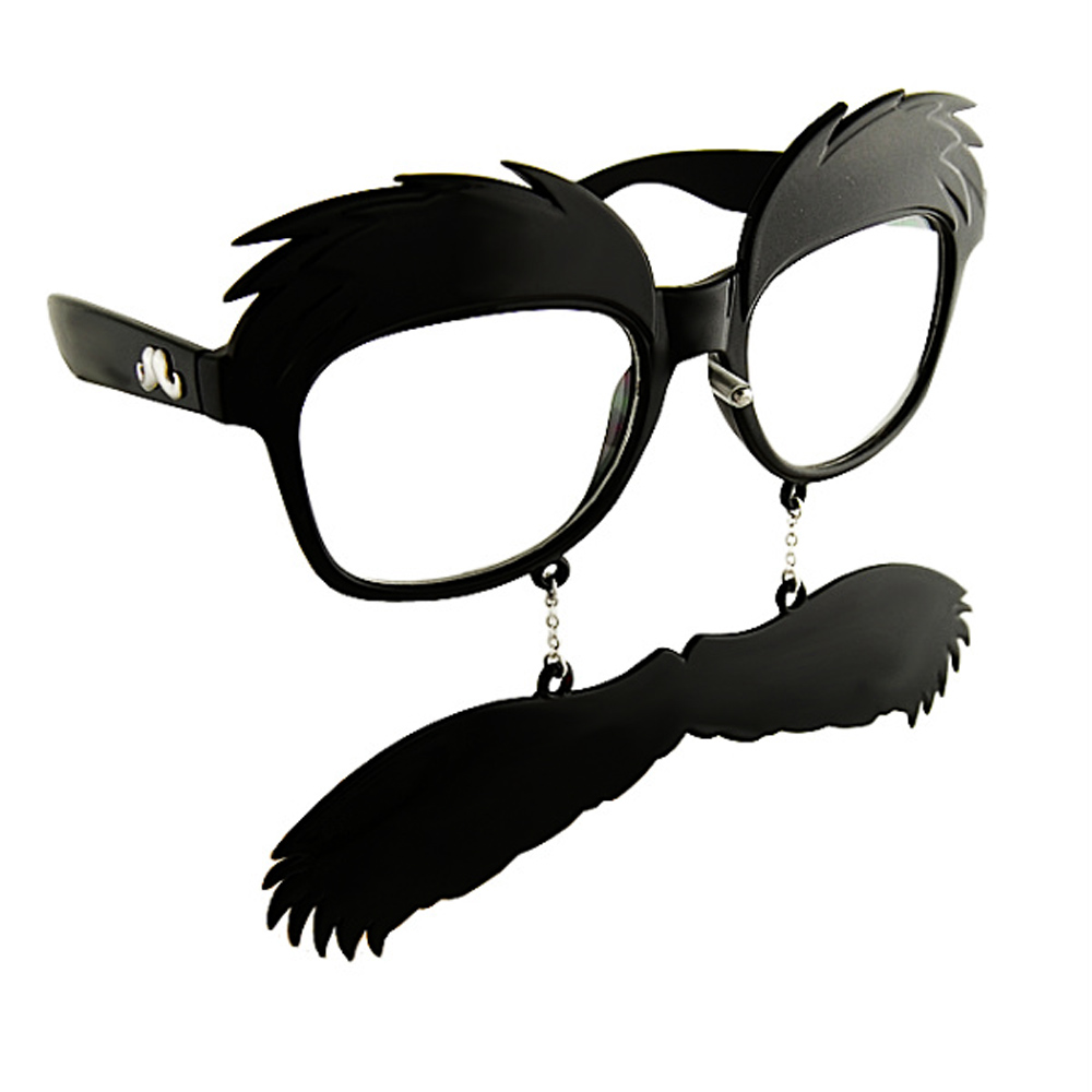 Occhiali Finti Diabolical Gift per Feste Con Baffi