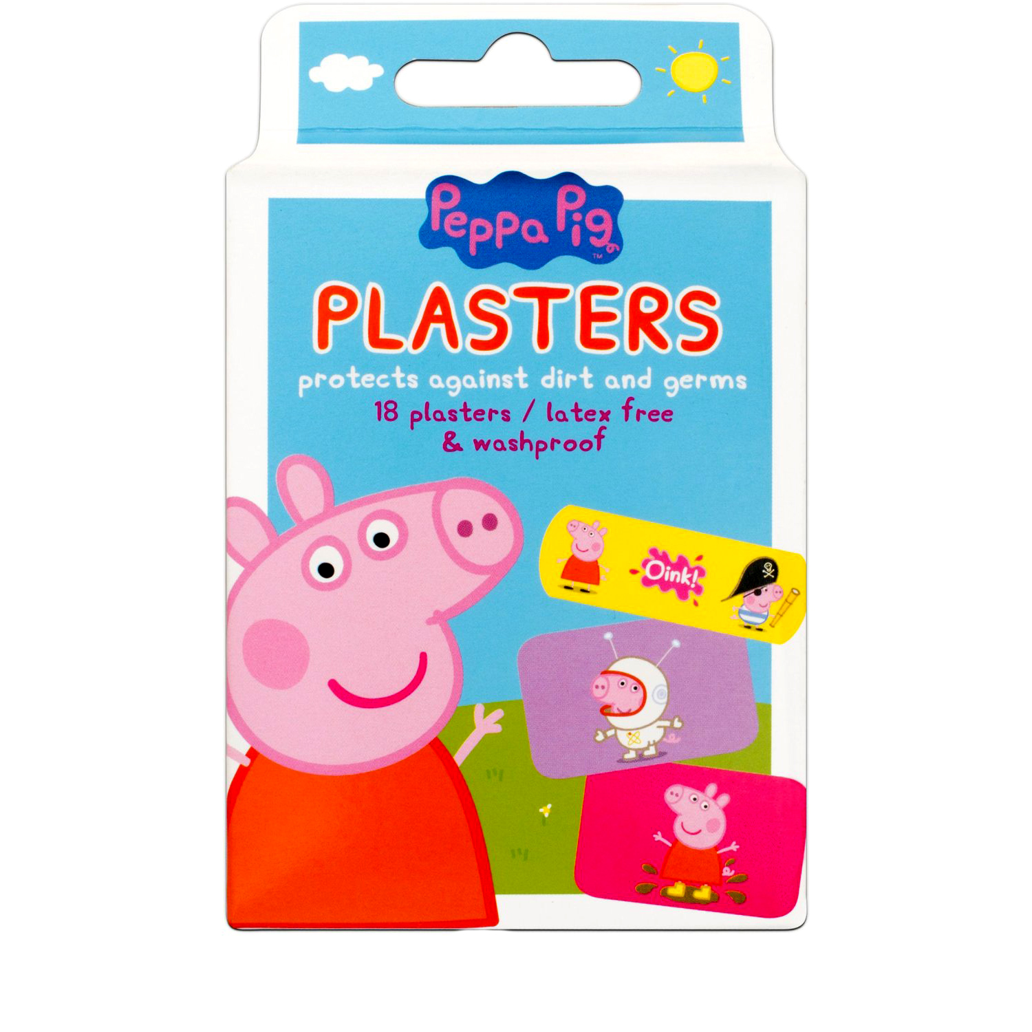 Peppa Pig Pack Of 18 Kids Latex Free First Aid Wash Proof Plasters Enlarged Preview
