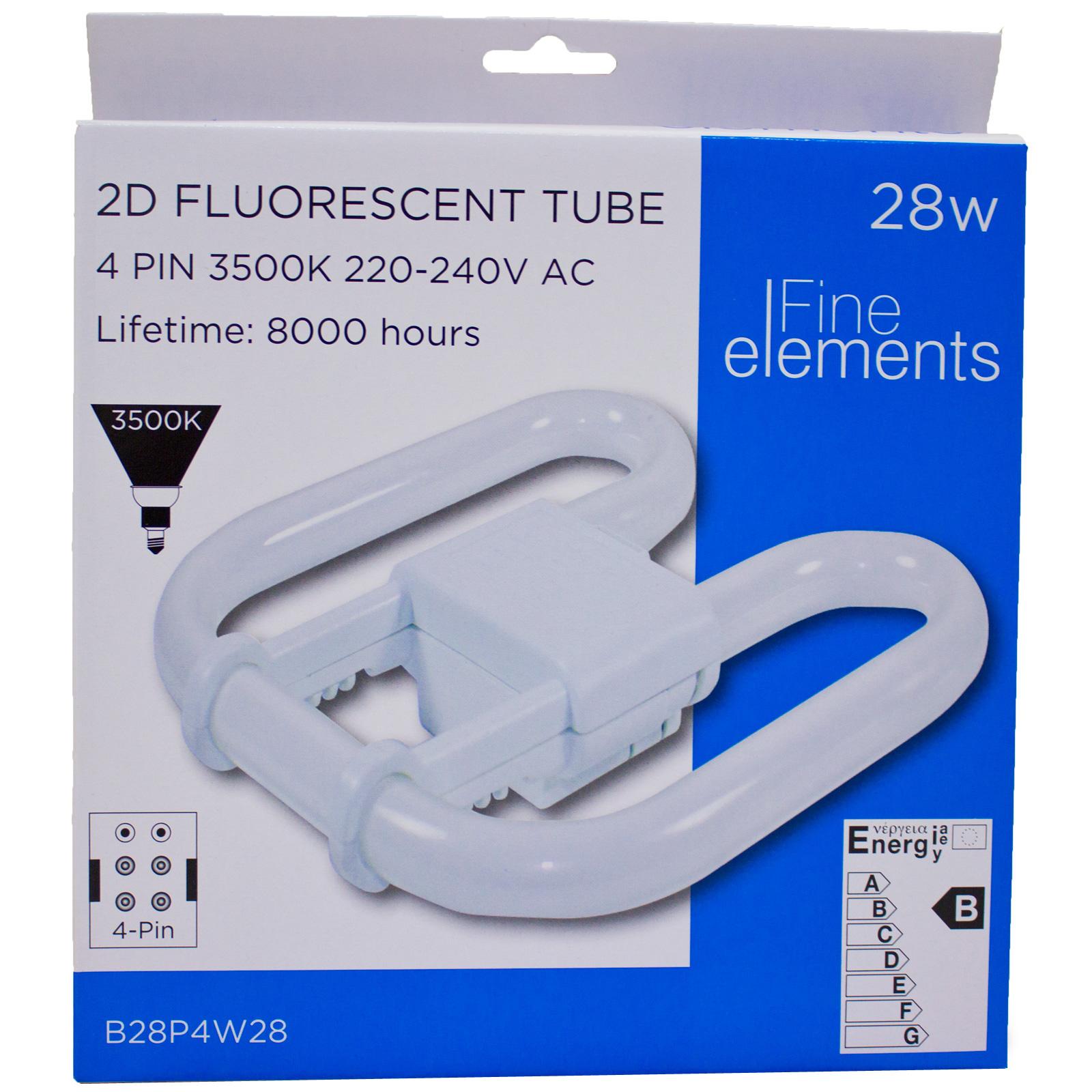 Fluorescent Light Elements: Fine Elements 2D Fluorescent 28W 4 Pin Energy Saving Light