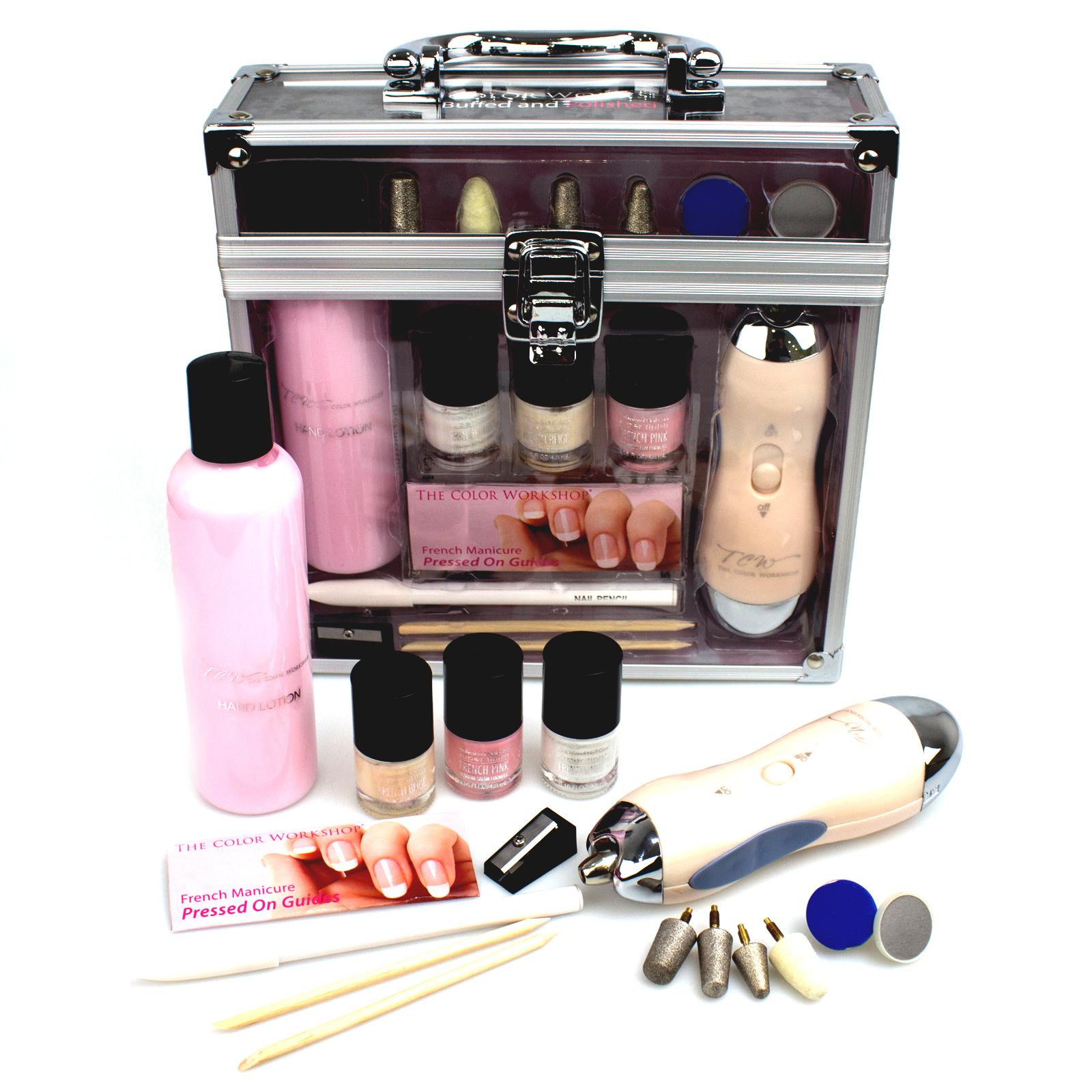 french manicure nail polish colour coat set varnish kit art pressed on 17 piece ebay. Black Bedroom Furniture Sets. Home Design Ideas