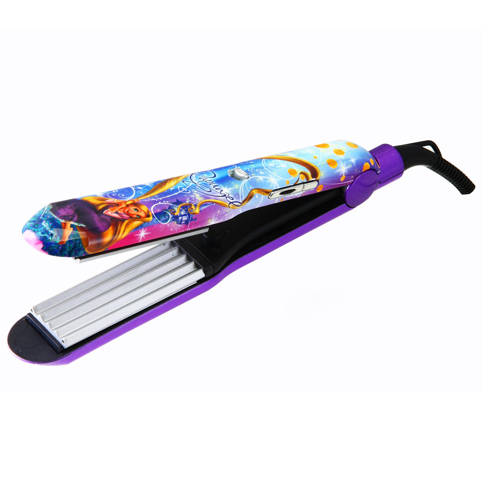 disney rapunzel iron waving styler ceramic hair crimper straightener ebay. Black Bedroom Furniture Sets. Home Design Ideas