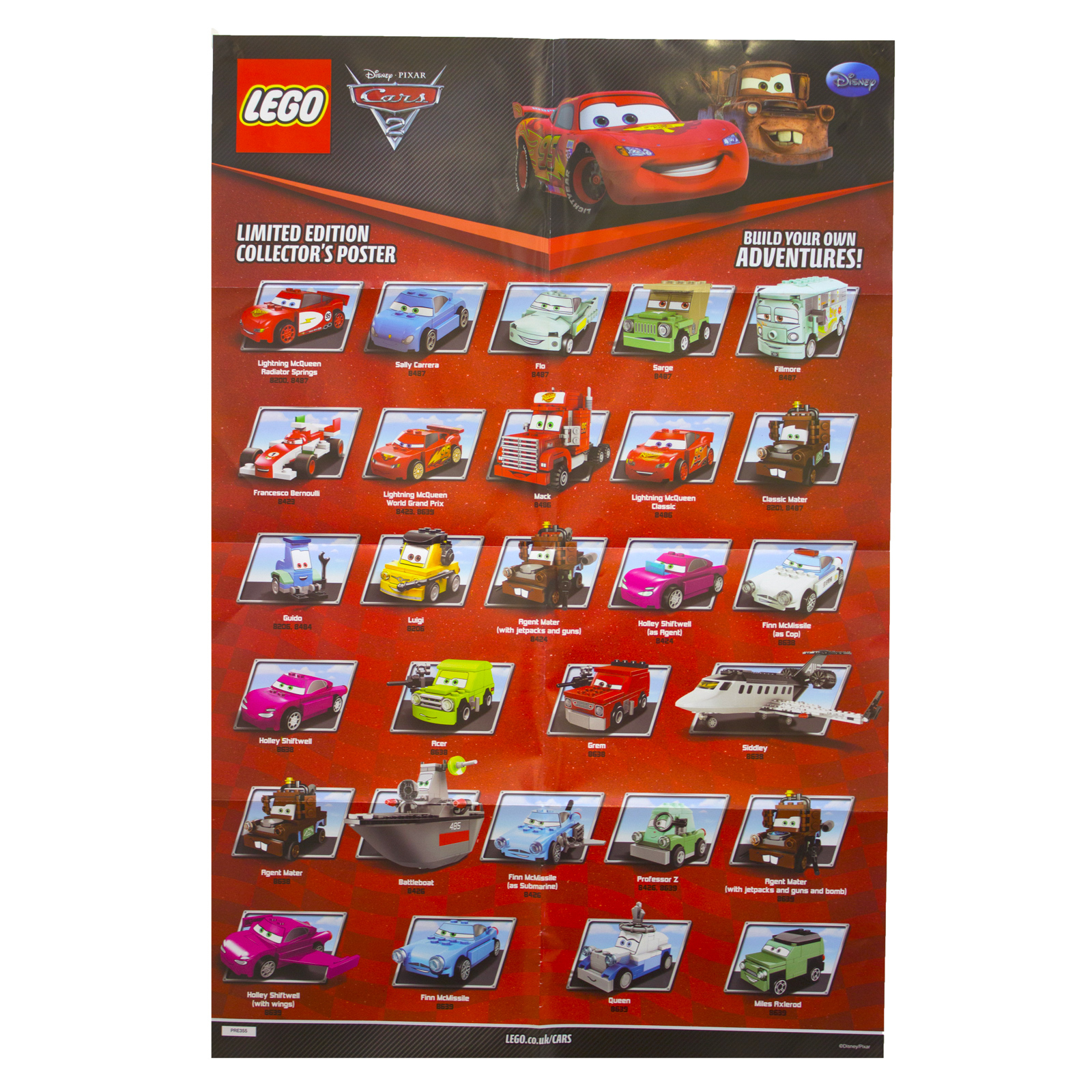 Disney cars 2 movie poster decor pixar print art wall lego figures kids pre355 ebay