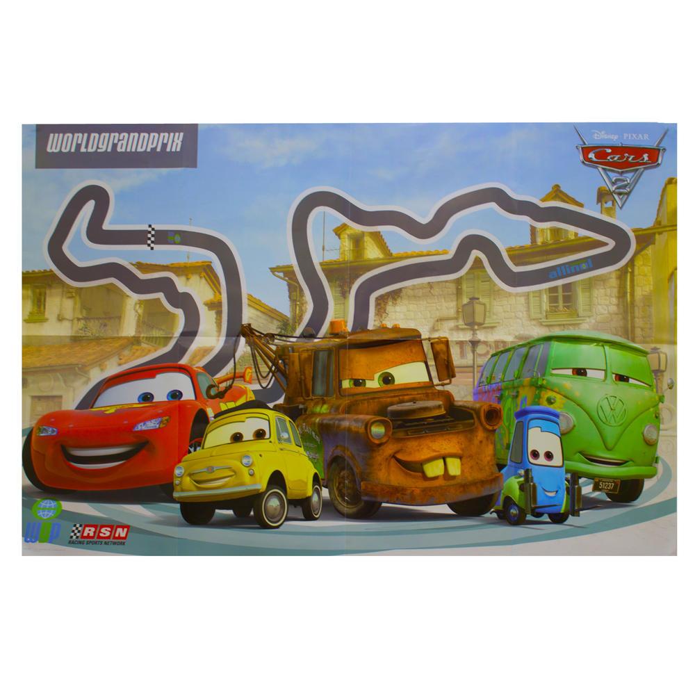 Disney Pixar Cars 2 World Grand Prix Track Movie Wall