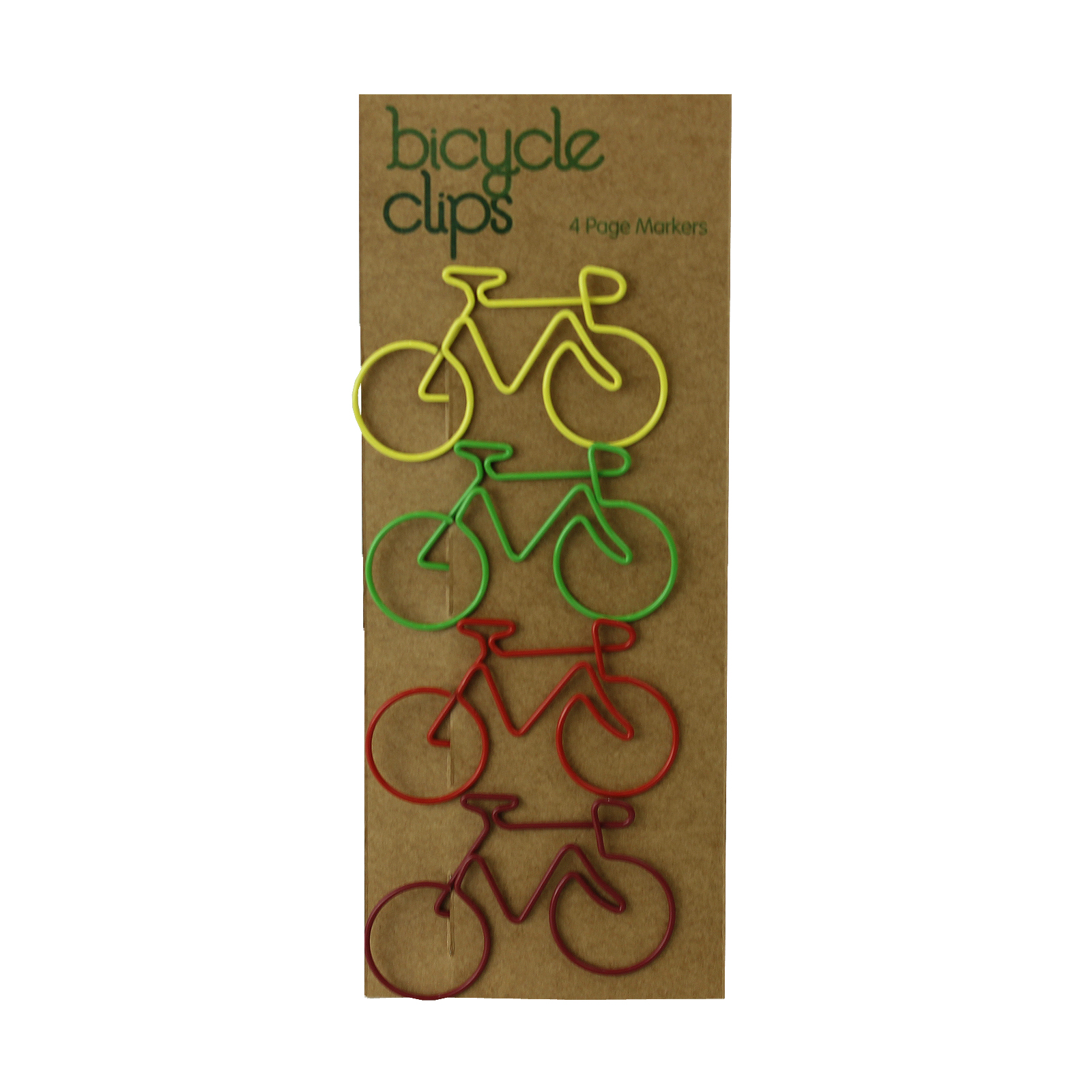 4 Fun Bicycle Shaped Metal Paper-Clips Various Bright Coloured Enlarged Preview