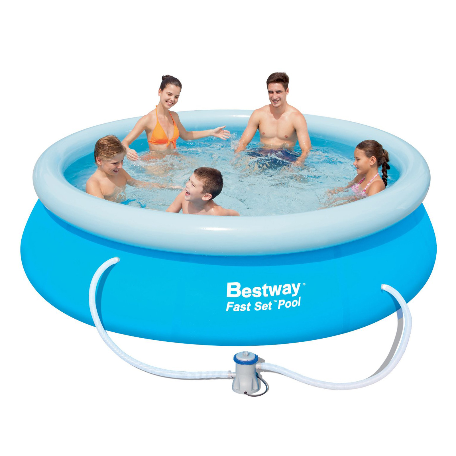 Swimming pool paddling garden family fun outdoor for Family garden pool