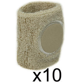 Sweat Band Wrist Gym Sports Wristband Tennis Badminton Squash Cream 10 Pack Preview