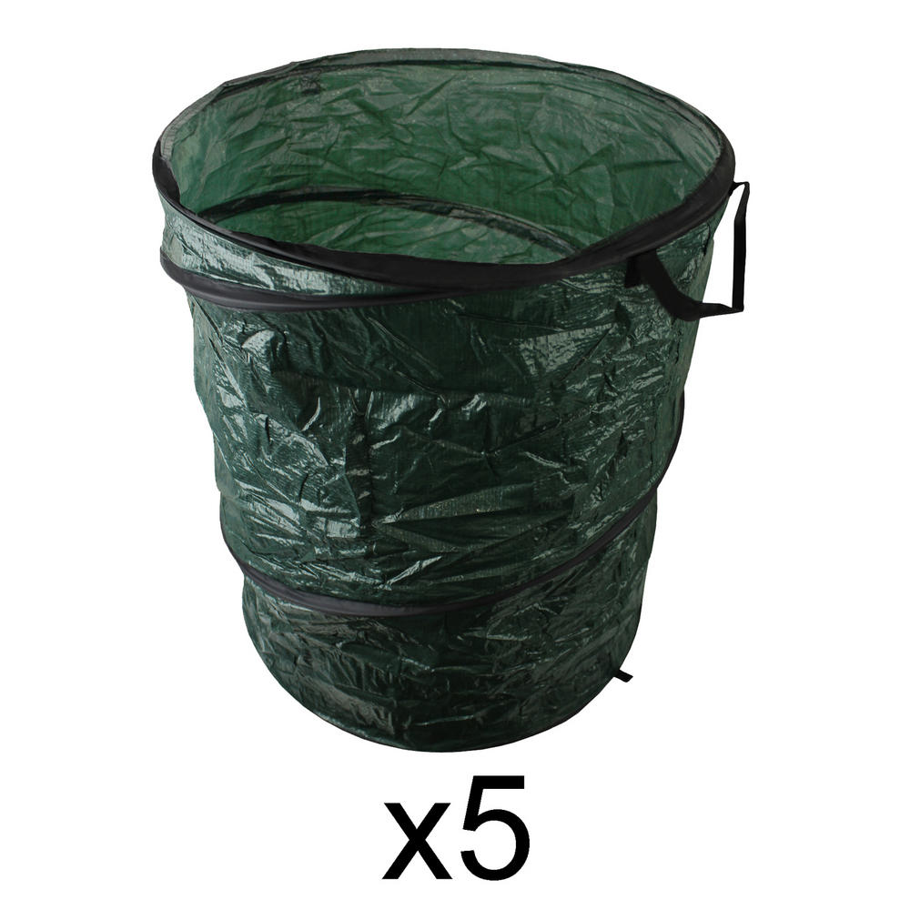 5 x pop up garden waste outdoor refuse leaves grass sack. Black Bedroom Furniture Sets. Home Design Ideas