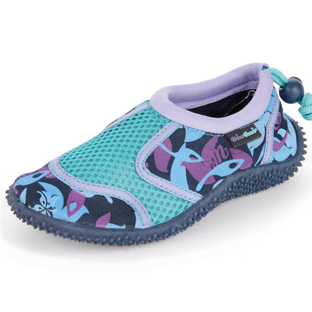 Urban Beach Girls Blue Camo Waterproof Aqua Shoes Kids