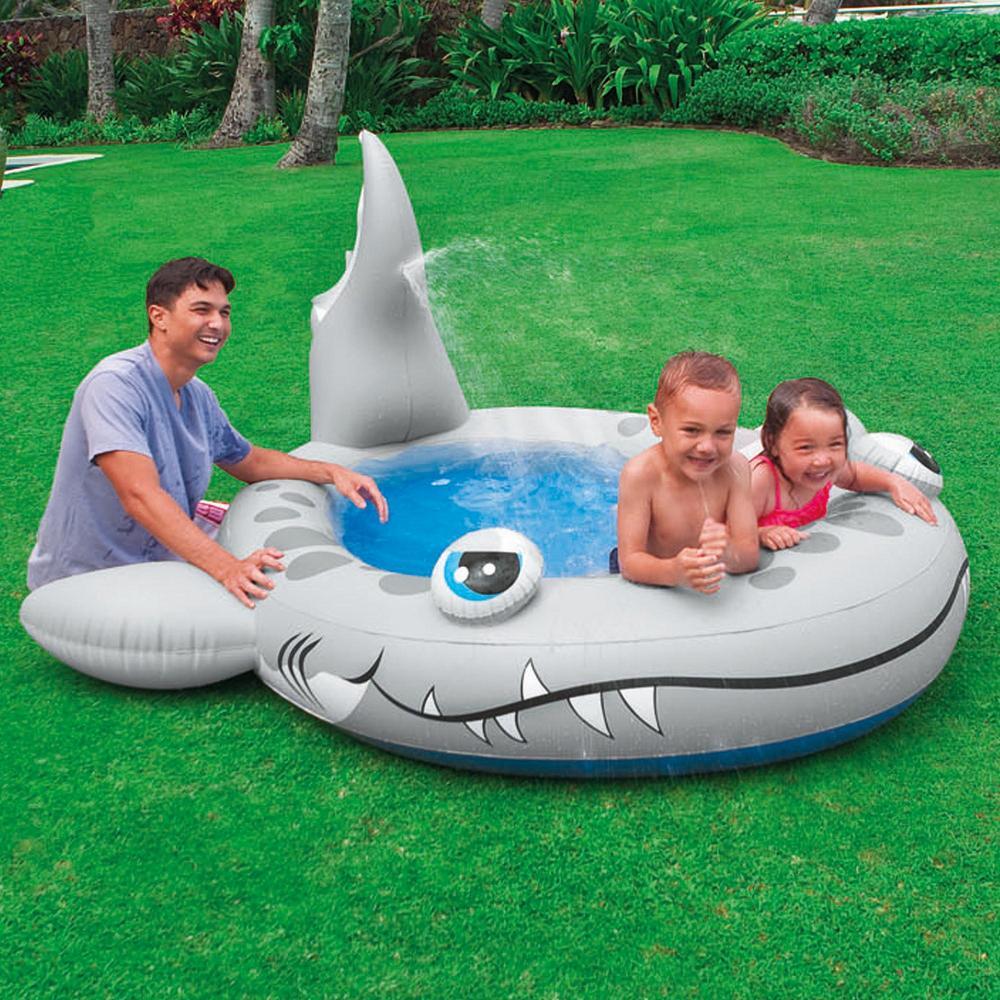 Swimming Pool Paddling Garden Spray Fun Splash Sandy Shark Baby Childrens Water Swimming Pool