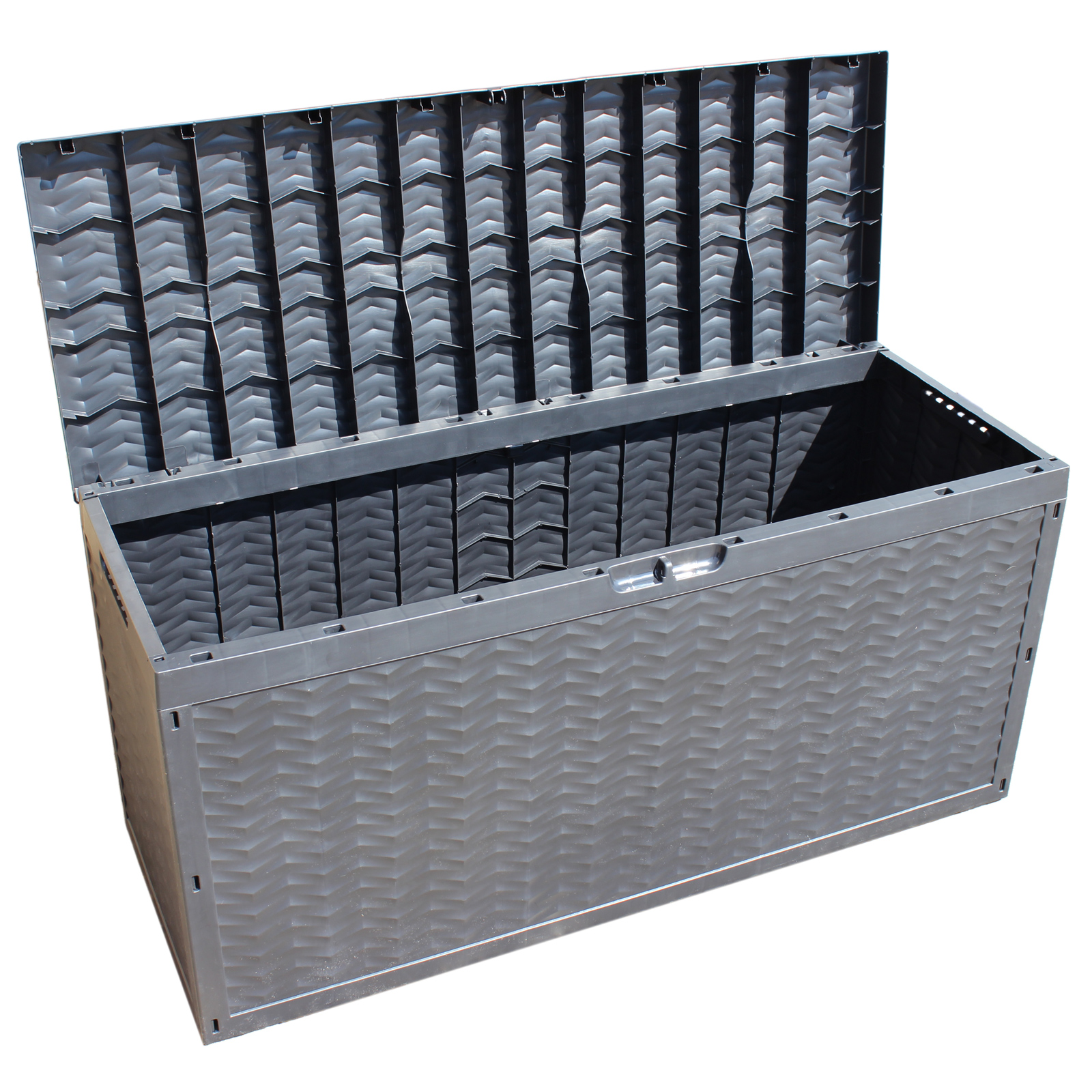 Storage outdoor box garden patio chest plastic lid for Balcony storage