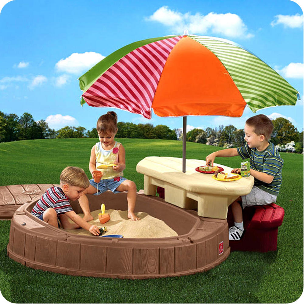 Sand Pit Water Box Table Toy Children Outdoor Play Plastic