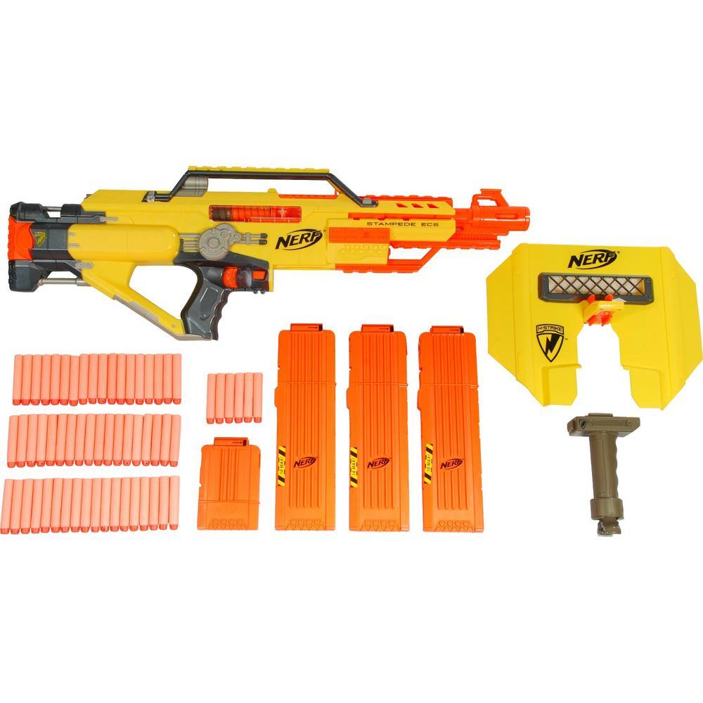 Nerf gun toy dart stampede ecs rapid blaster bullet refill for Nerf motorized rapid fire blasting