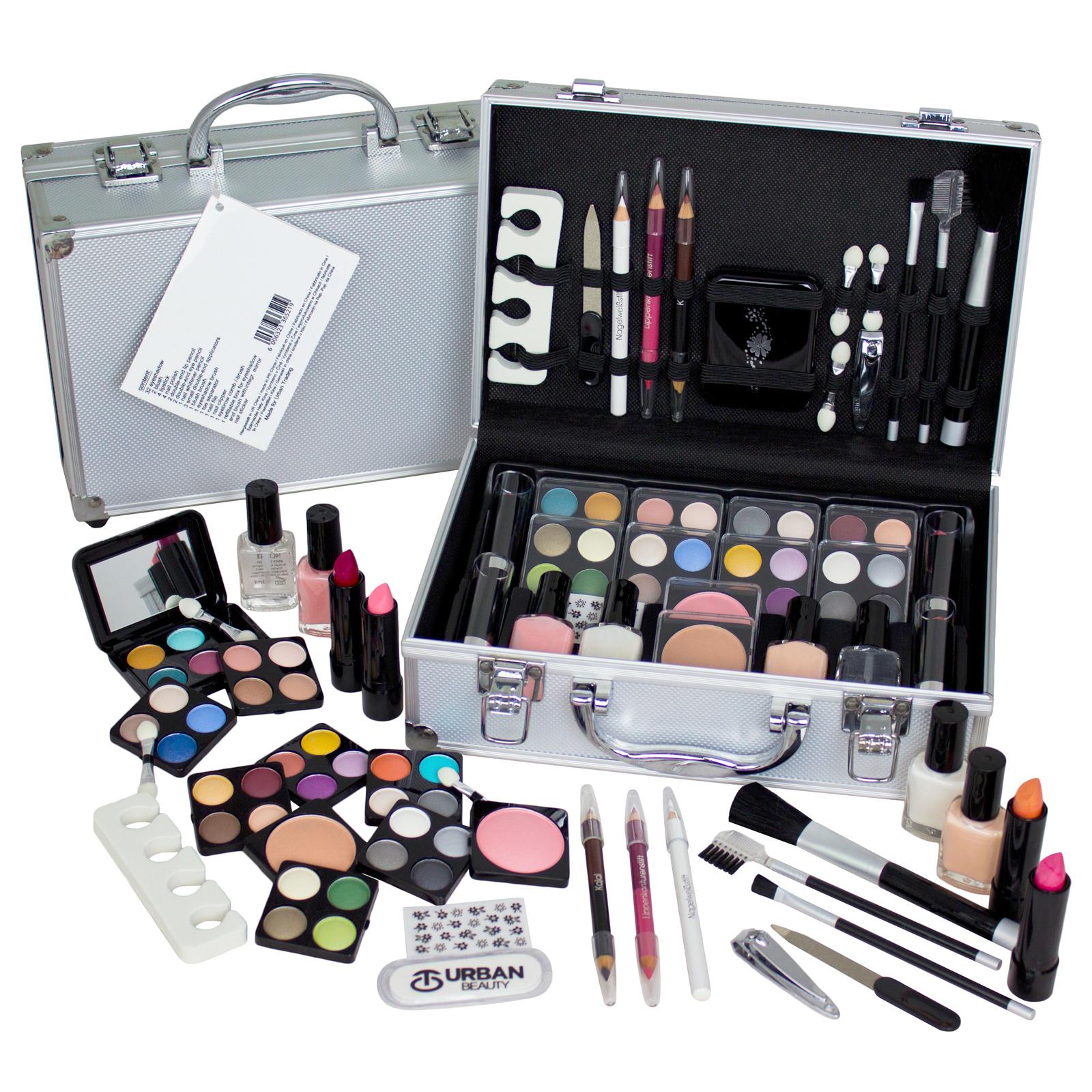 Vanity Case Urban Beauty Cosmetic Set Travel Make Up Box Train Holder 59 Piece | EBay