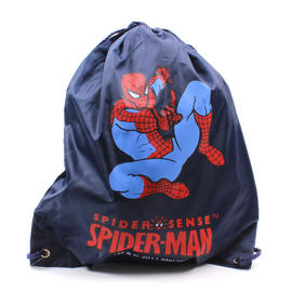 Bag Backpack Spiderman Marvel Kids School Drawstring Travel Blue Boys Preview