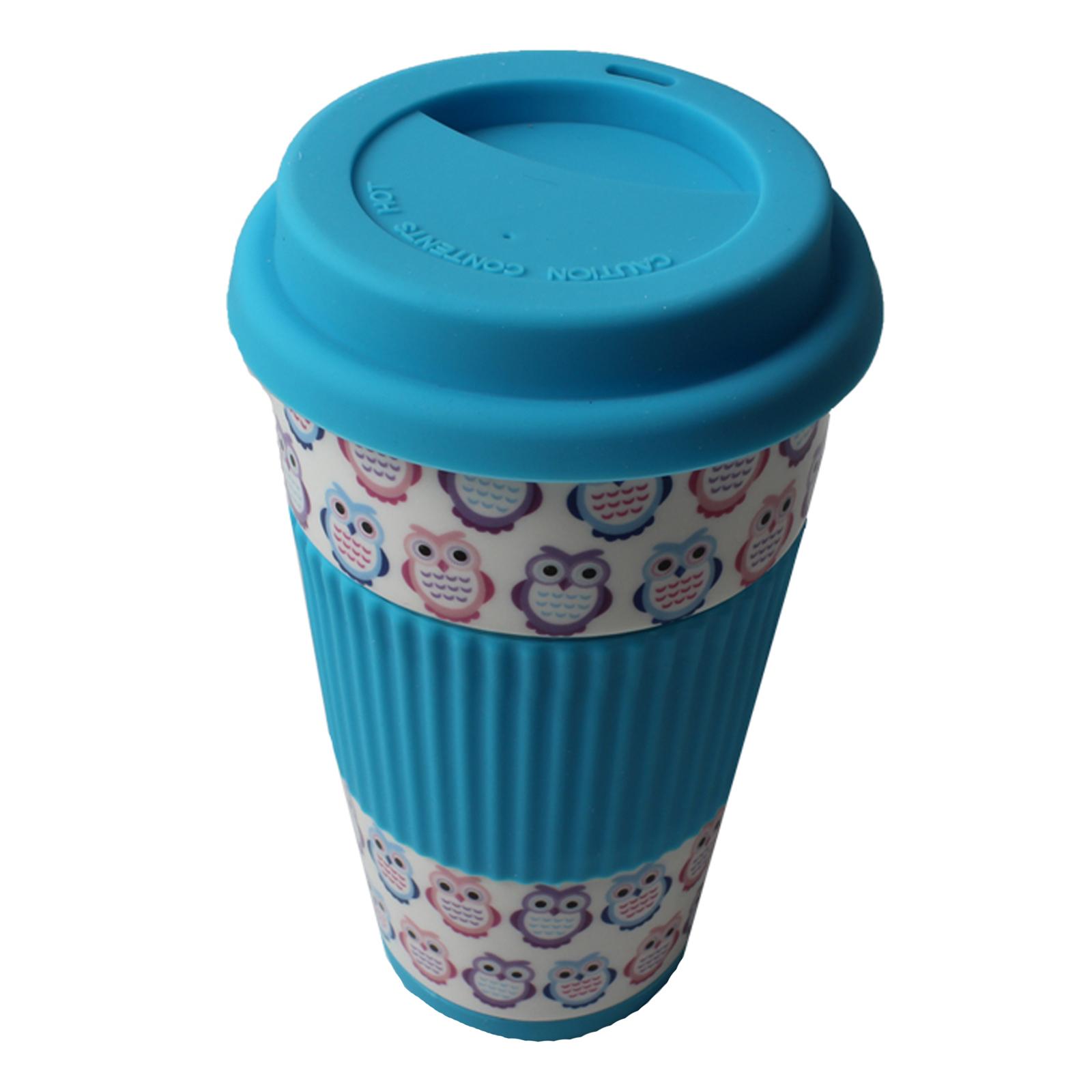 Travel Cup Owl Mug Insulated Lid Thermal Coffee Tea