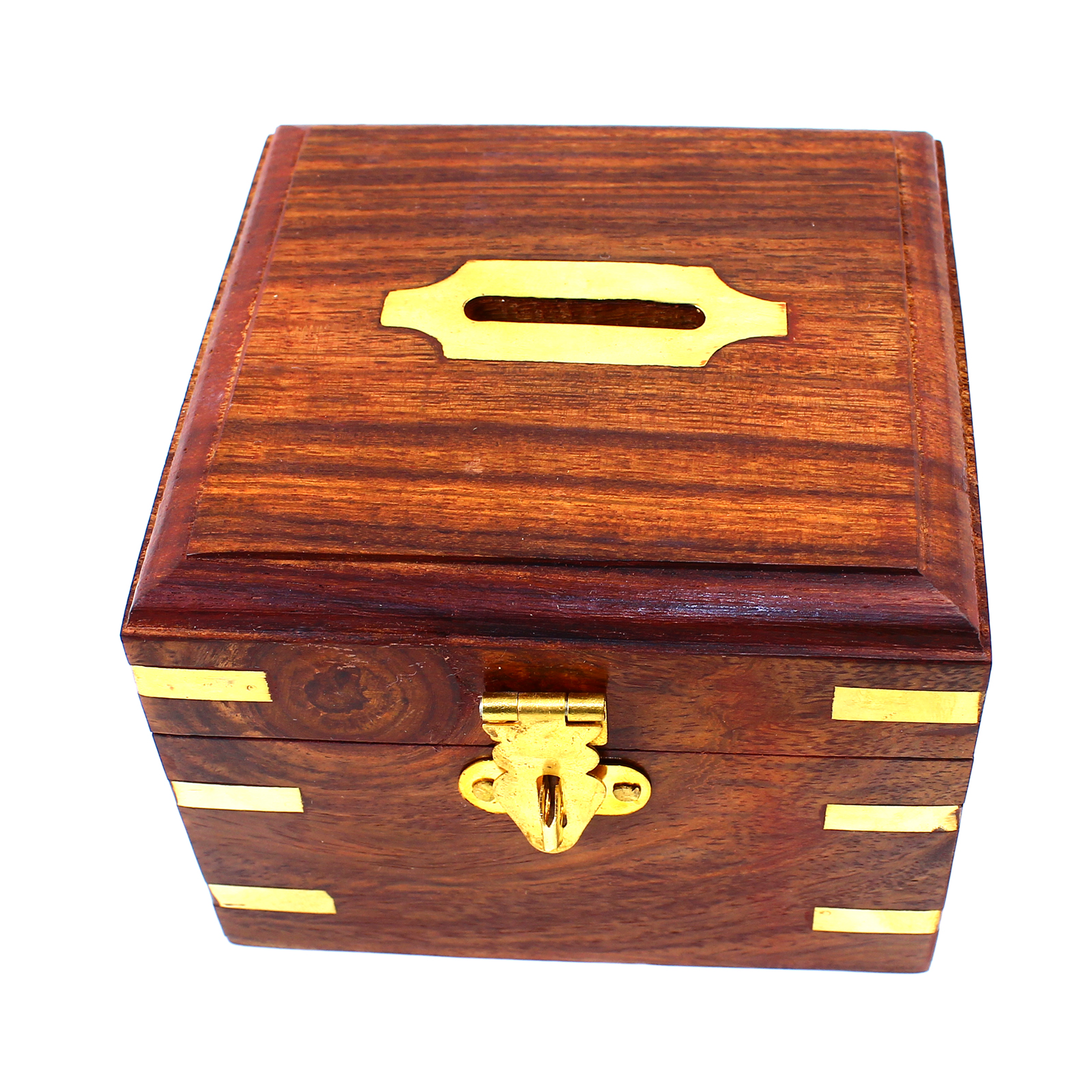Money box urban home hand carved wooden chest vintage for Home money box