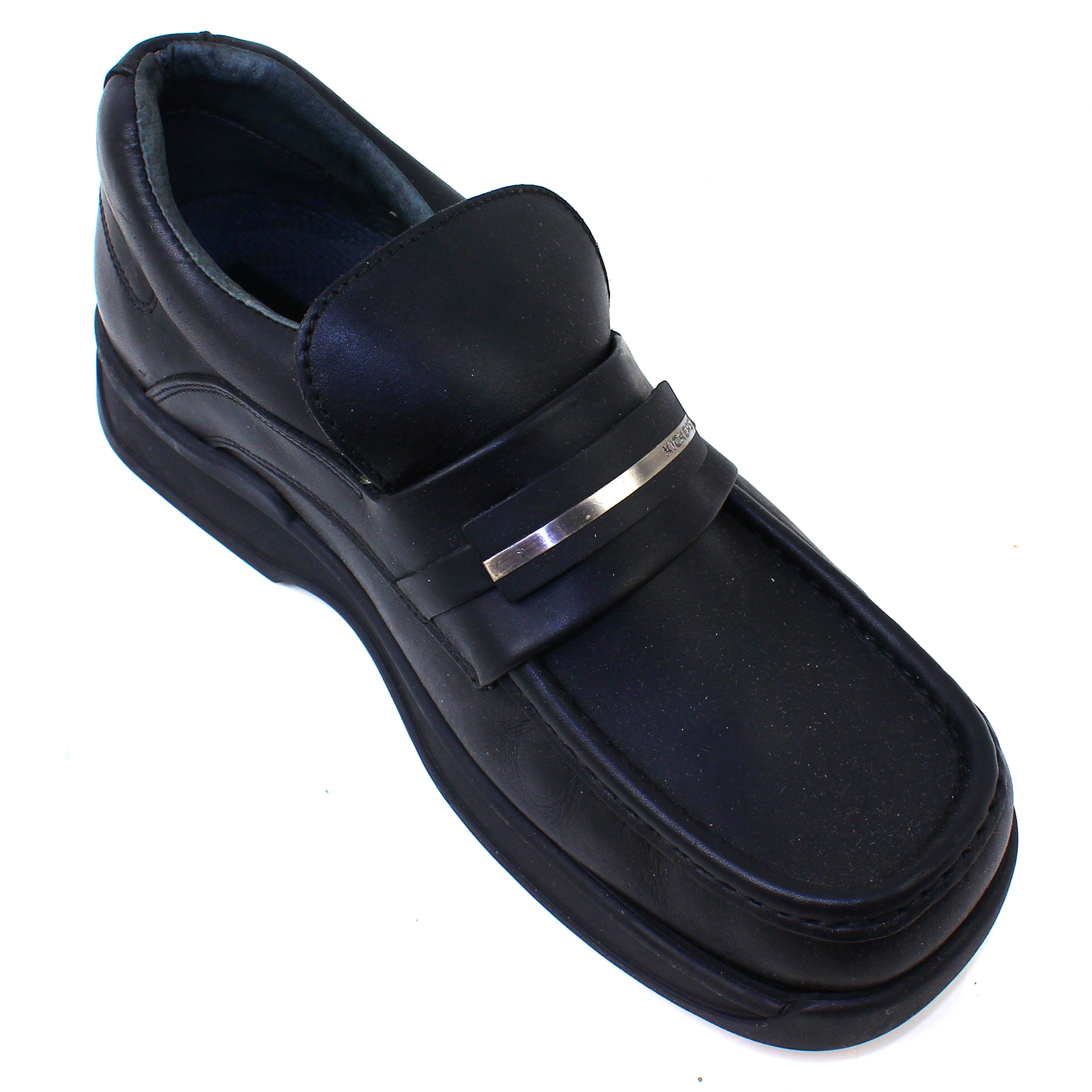 kickers womens shoes black leather casual blythe 3