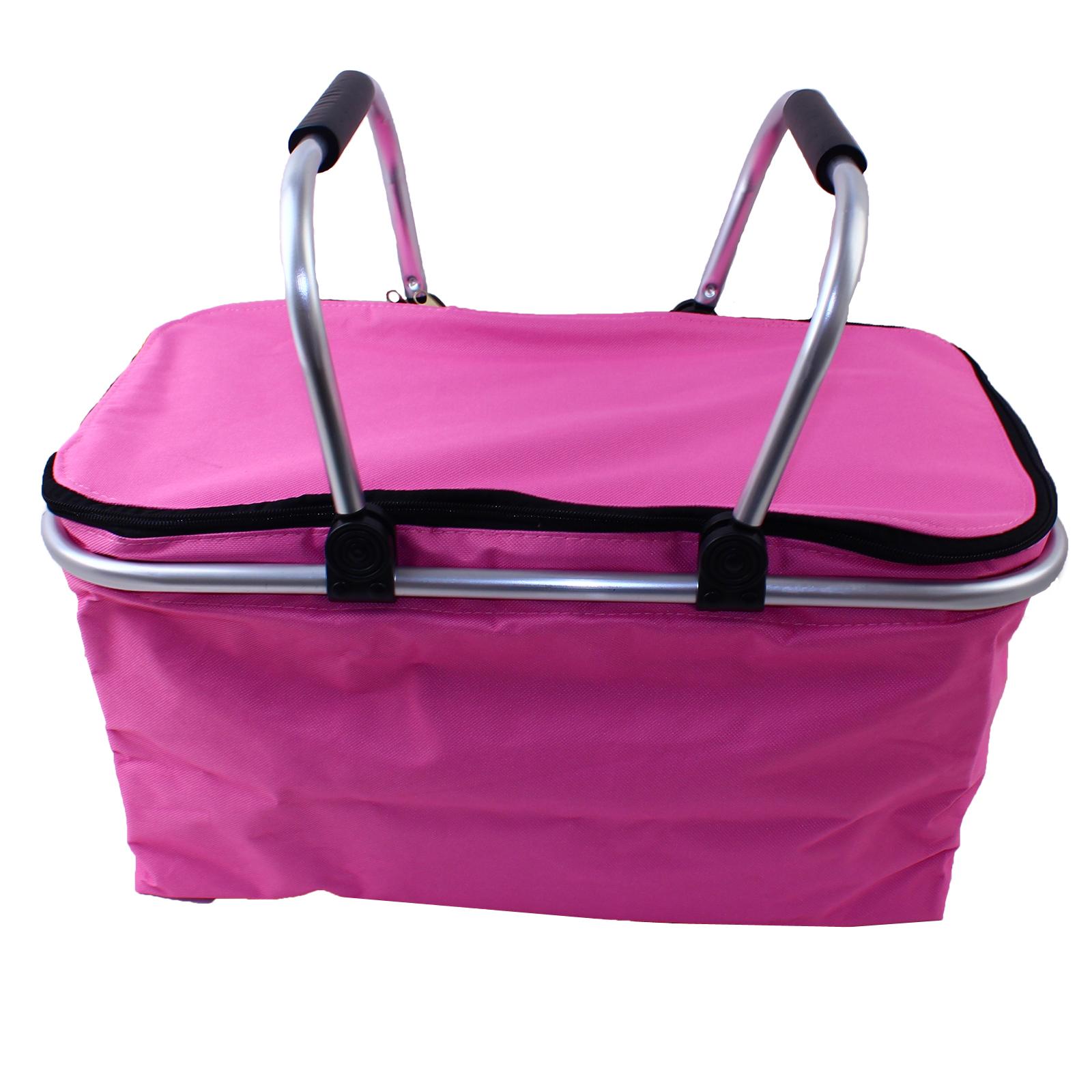 picnic basket refroidisseur sac panier isotherme pliable fourre tout de voyage 35 l assortiment. Black Bedroom Furniture Sets. Home Design Ideas