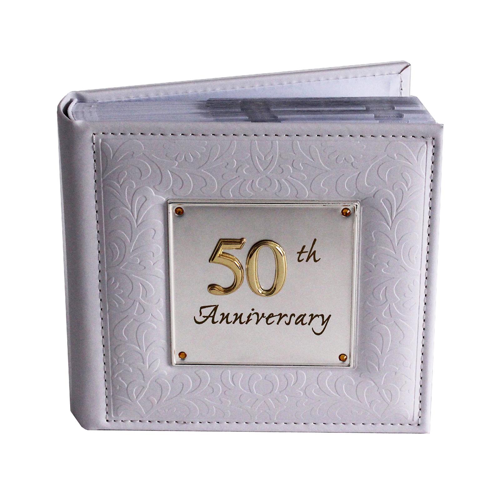 Photo Album 50th Wedding Anniversary Memories Occasion Shudehill Hold 80 4 X 6