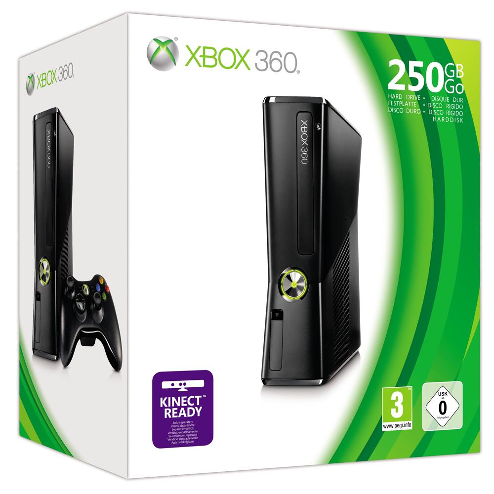 XBOX 360 S 250GB MATTE BLACK CONSOLE MICROSOFT BRAND NEW ...