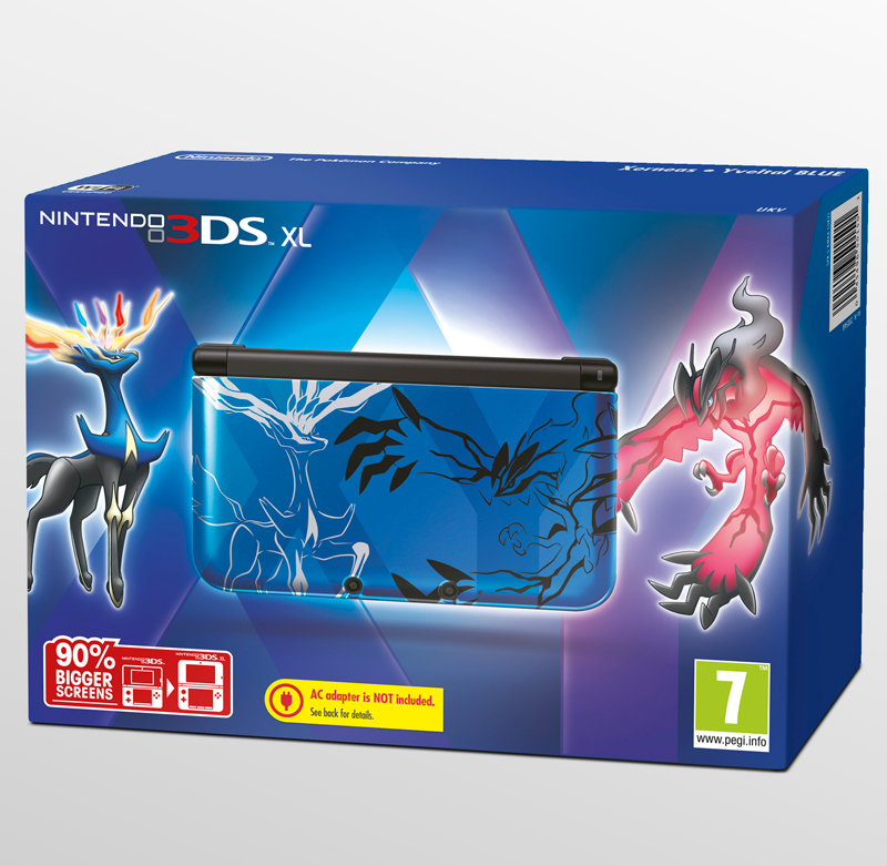 nintendo 3ds xl limited edition pokemon x y blue console. Black Bedroom Furniture Sets. Home Design Ideas