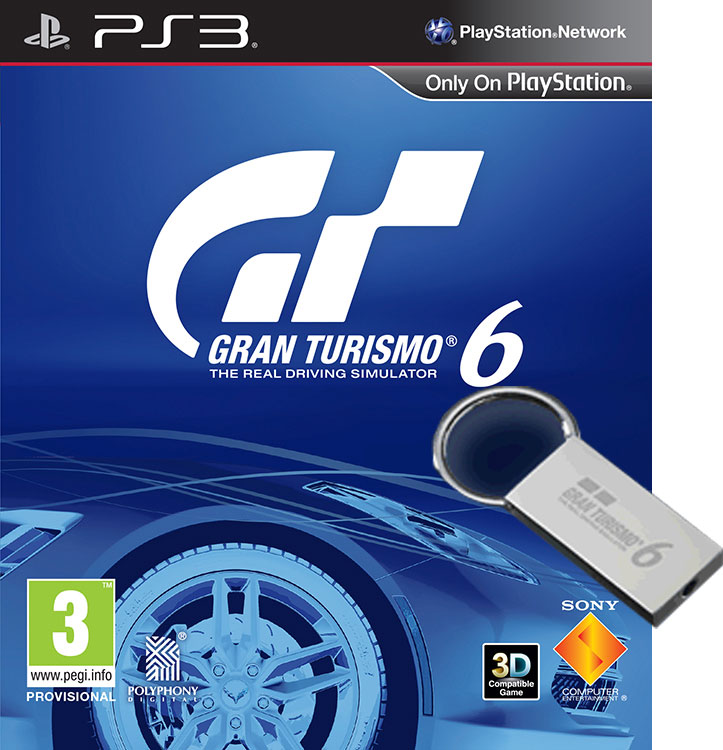 GRAN-TURISMO-6-GT6-w-KEY-RING-PRECISION-TORQUE-PACK-DLC-PS3-GAME-NEW-PAL