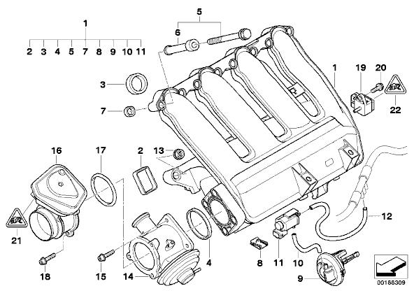 bmw e90 320 egr exhaust valve 11717804382