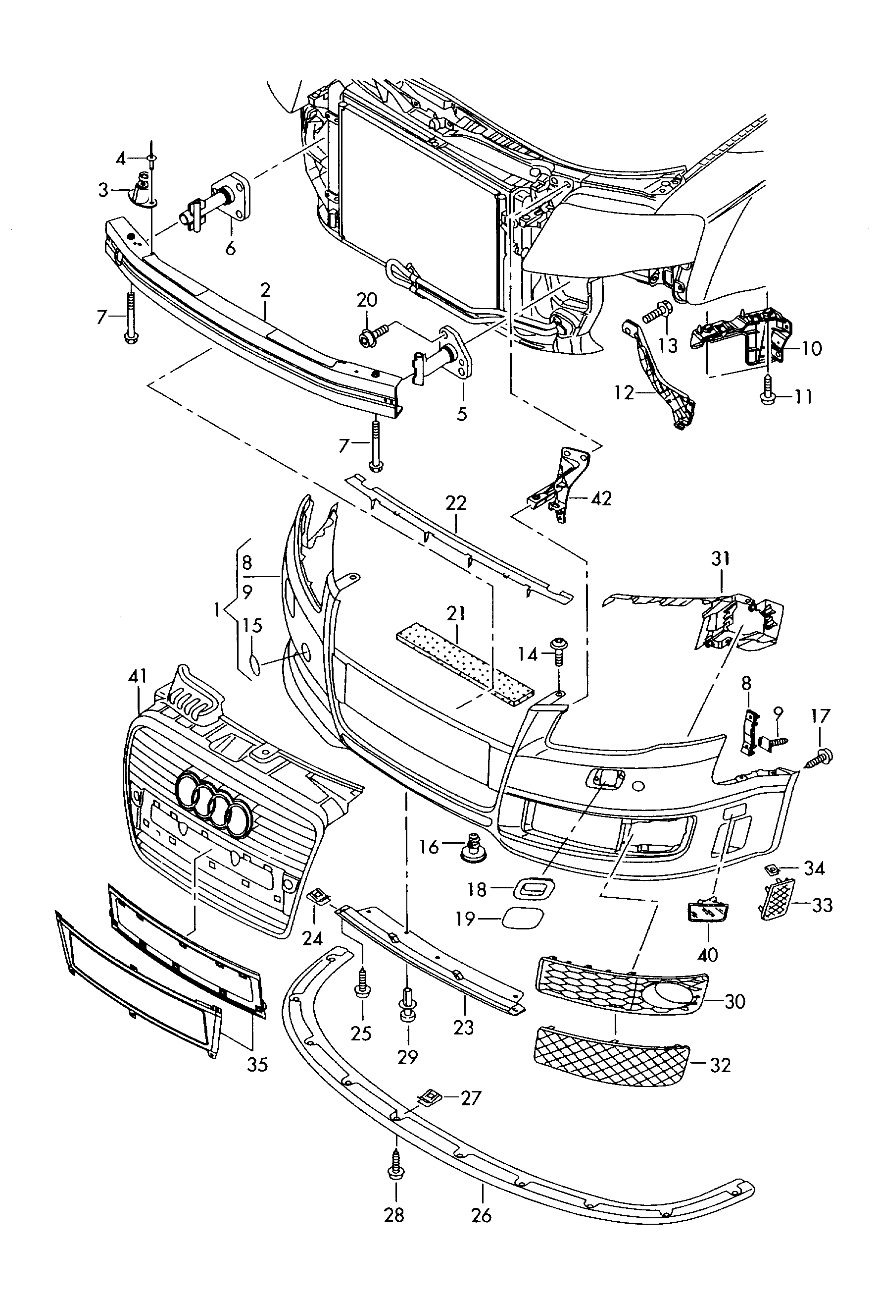 Index php moreover 280559949485 moreover 99 Audi A6 Quattro Engine Diagram further Watch additionally 58. on audi a4 b6 front bumper diagram