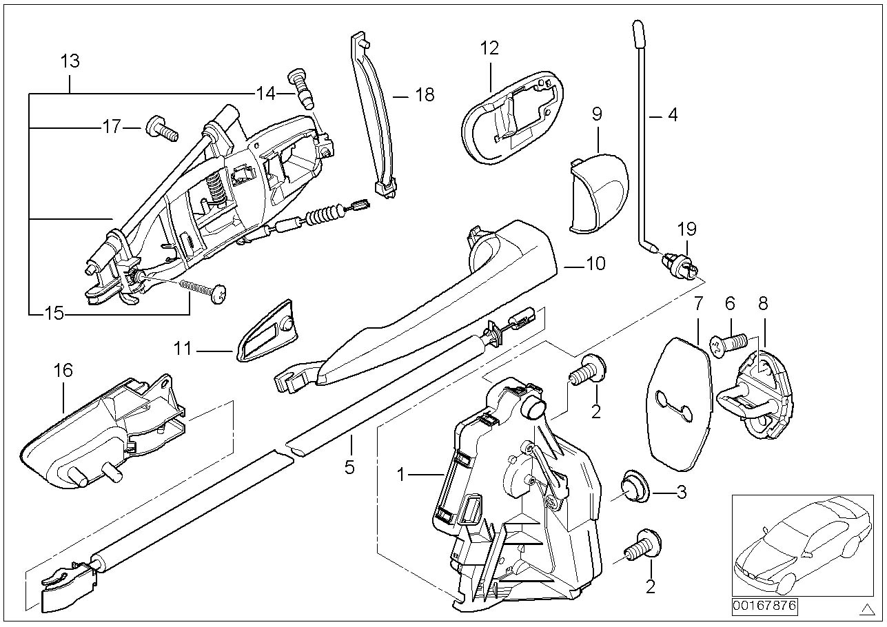 part 13 bmw 3 series e46 m54 handle,door,rear right 51227044842 ebay E46 BMW 330Ci Engine Diagram at readyjetset.co