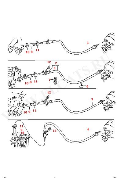 vw golf jetta vento vacuum brake servo pipe 192611931g ebay. Black Bedroom Furniture Sets. Home Design Ideas