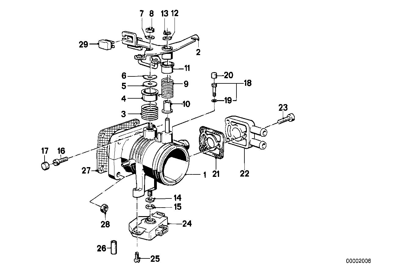 bmw 3 5 039 13631707320 throttle valve switch e28 e30 e34