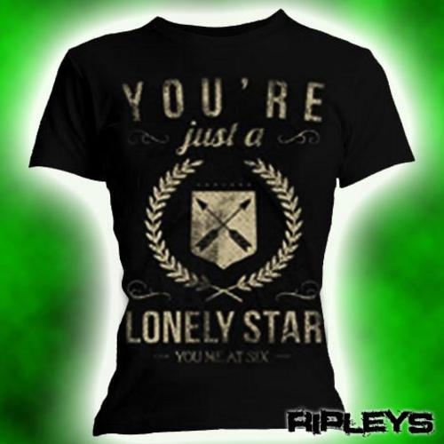 Official-Skinny-T-Shirt-YOU-ME-AT-SIX-Vintage-LONELY-STAR-All-Sizes