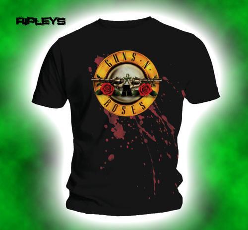 Official-T-Shirt-GUNS-N-ROSES-Classic-Logo-SPLATTER-BULLET-All-Sizes