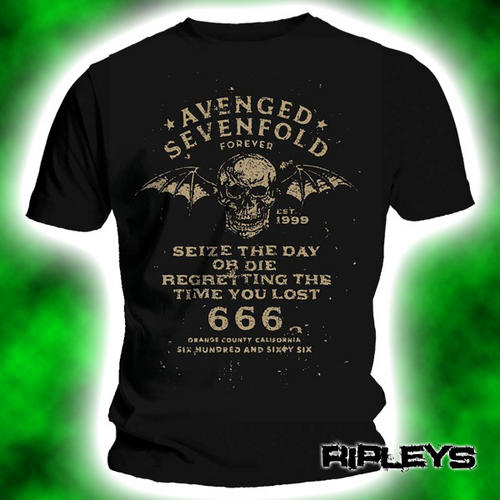 Official-TShirt-AVENGED-SEVENFOLD-Vintage-SEIZE-THE-DAY-All-Sizes