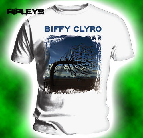 Official-T-shirt-BIFFY-CLYRO-Album-Cover-OPPOSITES-White-All-Sizes