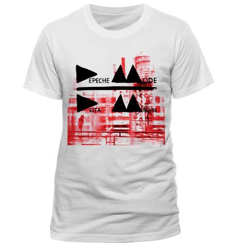 Official-Band-T-Shirt-DEPECHE-MODE-Logo-DELTA-White-All-Sizes