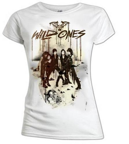 Official-Ladies-T-Shirt-BLACK-VEIL-BRIDES-White-SKELETAL-Wild-Ones-All-Sizes