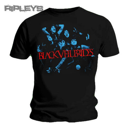 Official-T-Shirt-BLACK-VEIL-BRIDES-Wild-Ones-BLUE-BAND-Logo-All-Sizes