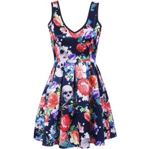 IRON-FIST-Ladies-Mini-Dress-ROAMING-HEART-Flowers-Skulls-All-Sizes