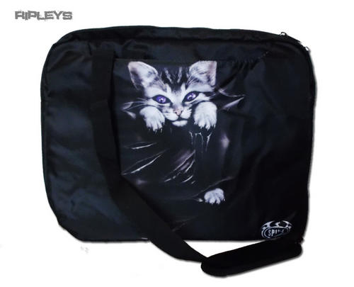 SPIRAL-DIRECT-Goth-Laptop-Messenger-Bag-BRIGHT-EYES-Kitten-Cat
