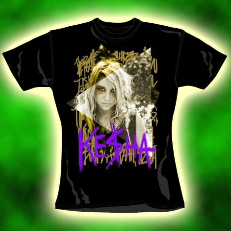 Official Skinny T Shirt KESHA Ke$ha BLAH BLAH XL 14 | eBay