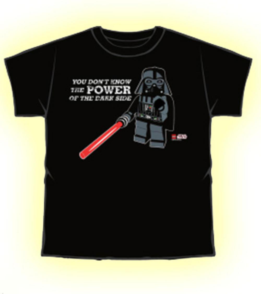 Official T Shirt Lego Star Wars Darth Vader Power L