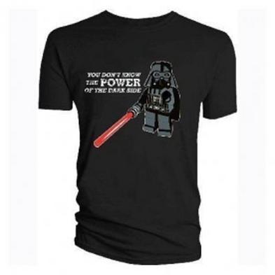 Official T Shirt Lego Star Wars Darth Vader Power S