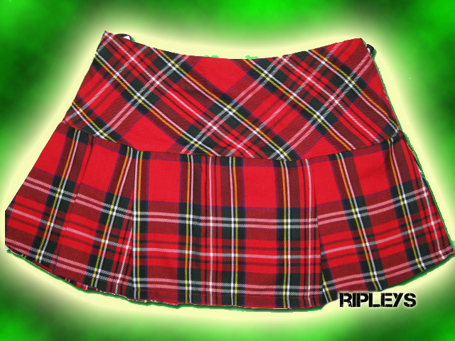 HELL BUNNY Red TARTAN Mini Skirt EMO Club/Party 8-18 | eBay