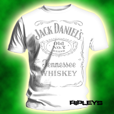 Official T Shirt JACK DANIELS Classic LOGO WHITE XL Enlarged Preview