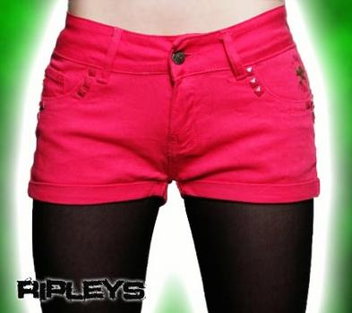 CRIMINAL DAMAGE Shorts PINK Hot Pants SUMMER 24W 4