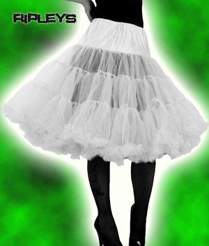 "HELL BUNNY 50s SKIRT White PETTICOAT X-Long 25""  Preview"