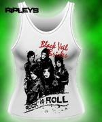 Official Skinny BLACK VEIL BRIDES Boys LADIES VEST XL 14 Thumbnail 1